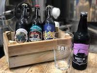 Bottled beers from Ferry Ales Brewery